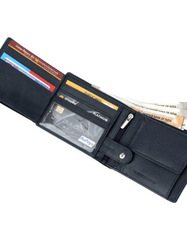 Luxury Leather Bi-Fold Wallet For Men